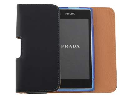 Smooth Synthetic Leather Belt Pouch (Bumper Case Compatible) for LG Prada 3.0