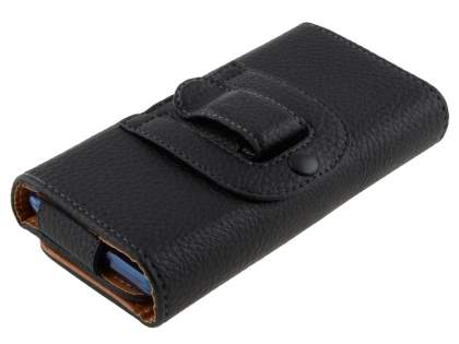 Textured Synthetic Leather Belt Pouch (Bumper Case Compatible) for HTC Velocity 4G
