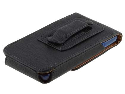 Textured Synthetic Leather Vertical Belt Pouch (Bumper Case Compatible) for HTC Velocity 4G