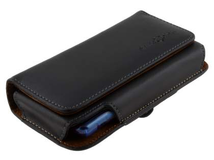 Extra-tough Genuine Leather ShineColours belt pouch (Bumper Case Compatible) for Samsung I9210T