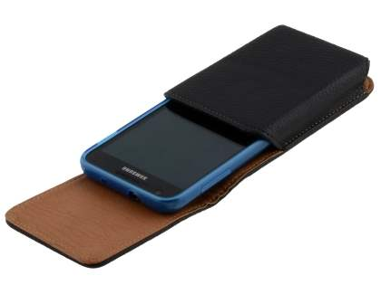 Textured Synthetic Leather Vertical Belt Pouch (Bumper Case Compatible) for Samsung Galaxy S2 4G