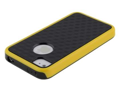 3D Design Protective Case for iPhone 4/4S - Canary Yellow / Black