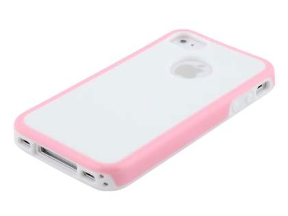 3D Design Protective Case for iPhone 4/4S - Baby Pink/White