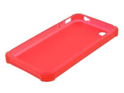 Frosted Colour TPU Gel Case for iPhone 4/4S - Red