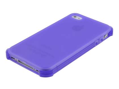 Frosted Colour TPU Gel Case for iPhone 4/4S - Purple