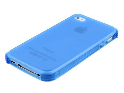 Frosted Colour TPU Gel Case for iPhone 4/4S - Blue