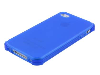 Frosted Colour TPU Gel Case for iPhone 4/4S - Ocean Blue