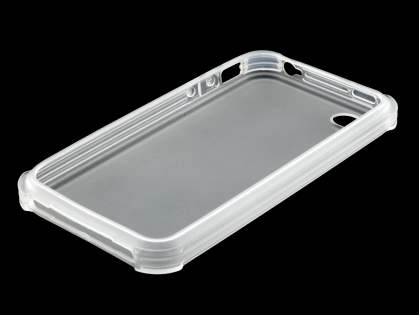 Frosted Colour TPU Gel Case for iPhone 4/4S - Frosted Clear