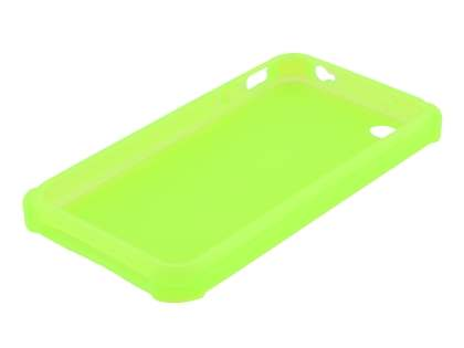 Frosted Colour TPU Gel Case for iPhone 4/4S - Yellow Green