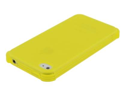 Frosted Colour TPU Gel Case for iPhone 4/4S - Canary Yellow