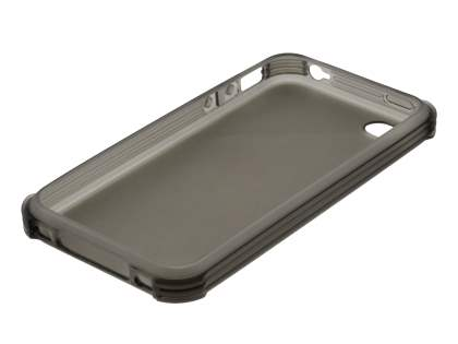 Frosted Colour TPU Gel Case for iPhone 4/4S - Frosted Grey