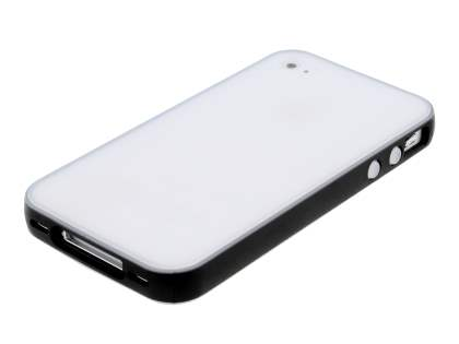 Dual-Design Case for iPhone 4/4S - Black/Frosted Clear