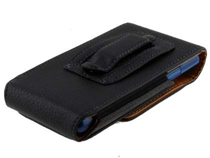 Textured Synthetic Leather Vertical Belt Pouch (Bumper Case Compatible) for LG Optimus L7 P700