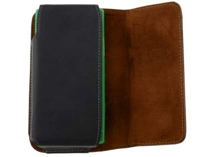 Extra-tough Genuine Leather ShineColours belt pouch (Bumper Case Compatible) for Sony Xperia S LT26i