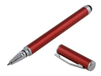 Universal Finger-Touch Stylus & Ball-Point Pen - Red