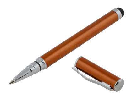 Universal Finger-Touch Stylus & Ball-Point Pen - Bronze