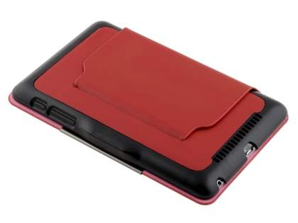 Slim Synthetic Leather Flip Cover with built-in Stand for Asus Google Nexus 7 2012 - Red/Black