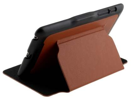 Synthetic Leather Flip Cover with Built-In Stand for Asus Google Nexus 7 2012 - Brown/Black Leather Flip Case