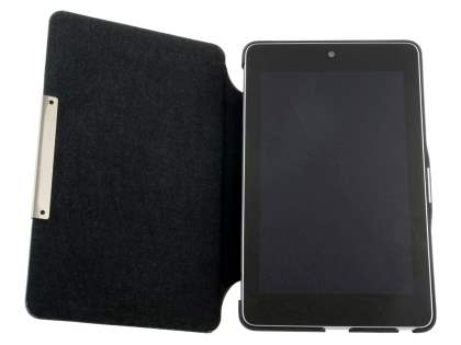 Slim Synthetic Leather Flip Cover with built-in Stand for Asus Google Nexus 7 2012 - Brown/Black