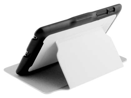 Synthetic Leather Flip Cover with Built-In Stand for Asus Google Nexus 7 2012 - White/Black Leather Flip Case