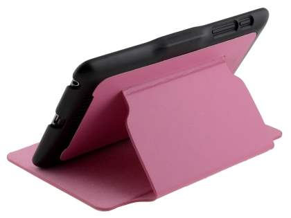 Synthetic Leather Flip Cover with Built-In Stand for Asus Google Nexus 7 2012 - Pink/Black Leather Flip Case
