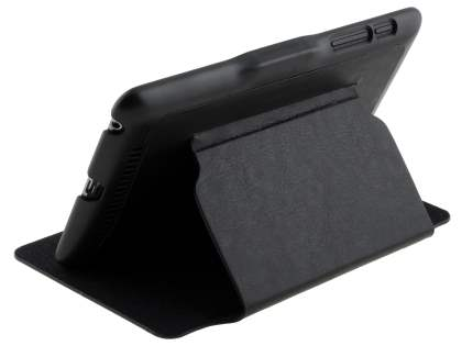 Synthetic Leather Flip Cover with Built-In Stand for Asus Google Nexus 7 2012 - Classic Black Leather Flip Case