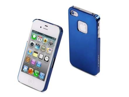 MOMAX Ultra-Thin Metallic Case for Apple iPhone 4S/4 - Mettalic Blue