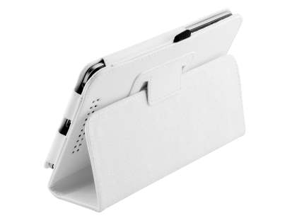 Synthetic Leather Flip Case with Fold-Back Stand for Asus Google Nexus 7 2012 - Pearl White Leather Flip Case