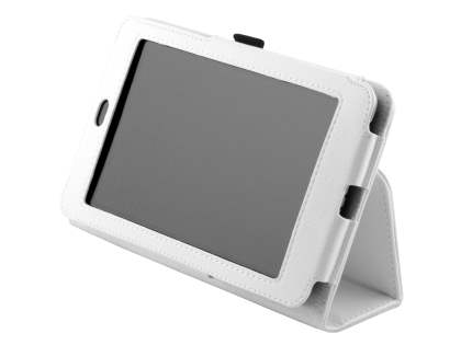Synthetic Leather Flip Case with Fold-Back Stand for Asus Google Nexus 7 2012 - Pearl White