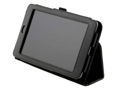 Synthetic Leather Flip Case with Fold-Back Stand for Asus Google Nexus 7 2012 - Classic Black