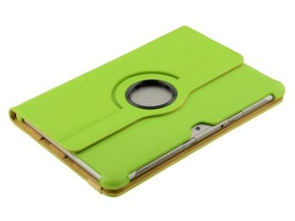 Samsung Galaxy Tab 10.1 VELOCITY Synthetic Leather 360° Swivel Flip Case - Lime Green