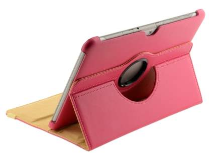 VELOCITY Synthetic Leather 360? Swivel Flip Case for Samsung Galaxy Tab 10.1 - Pink