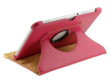 VELOCITY Synthetic Leather 360? Swivel Flip Case for Samsung Galaxy Tab 8.9 4G - Pink Leather Flip Case