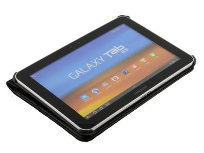 Samsung Galaxy Tab 8.9 4G VELOCITY Synthetic Leather 360° Swivel Flip Case - Classic Black