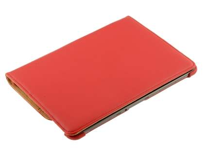 Samsung Galaxy Tab 10.1 VELOCITY Synthetic Leather 360° Swivel Flip Case - Red