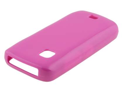 Frosted Colour TPU Gel Case for Nokia C5-03 - Pink