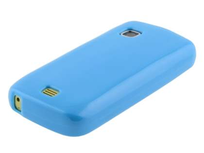 Nokia C5-03 Frosted Colour TPU Gel Case - Sky Blue