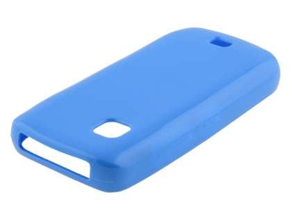 Nokia C5-03 Frosted Colour TPU Gel Case - Blue