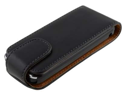 Nokia C5 Synthetic Leather Flip Case - Black