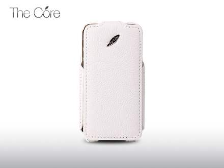 Momax The Core Slim Synthetic Leather Flip Case for iPhone 4S/4 - White