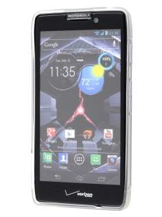 Motorola RAZR HD 4G XT925 Wave Case - Frosted Clear/Clear