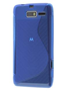 Motorola RAZR M 4G XT905 Wave Case - Frosted Blue/Blue Soft Cover
