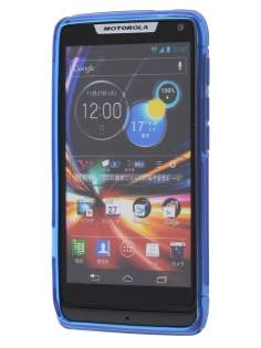 Motorola RAZR M 4G XT905 Wave Case - Frosted Blue/Blue