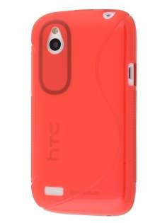 HTC Desire X Wave Case - Red/Frosted Red