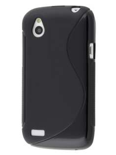 HTC Desire X Wave Case - Black/Frosted Black
