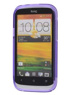 Wave Case for HTC Desire X - Purple/Frosted Purple