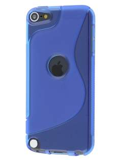 Wave Case for iPod Touch 5/6 - Frosted Blue/Blue Soft Cover