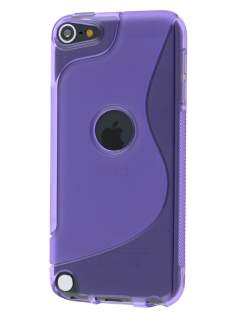 Wave Case for iPod Touch 5/6 - Frosted Purple/Purple Soft Cover