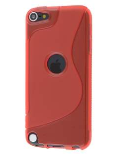 Wave Case for iPod Touch 5/6 - Frosted Red/Red Soft Cover