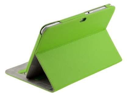 Samsung Galaxy Tab 8.9 4G Synthetic Leather Flip Case with Dual-Angle Tilt Stand - Green